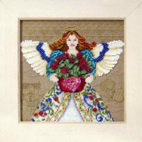 Summer Angel Beaded Cross Stitch Kit Mill Hill 2010 Jim Shore Angels