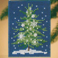 Snowflake Tree Beaded Ornament Kit Mill Hill 2010 Festival of Trees