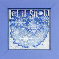Snowfall Cross Stitch Kit Mill Hill 2010 Buttons & Beads Winter