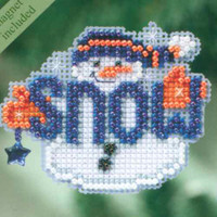 Snow Buddy Bead Christmas Ornament Kit Mill Hill 2010 Winter Holiday