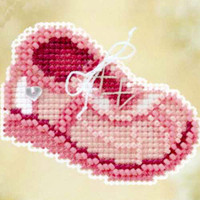 Pink Sneaker Bead Cross Stitch Kit Mill Hill 2010 Spring Bouquet