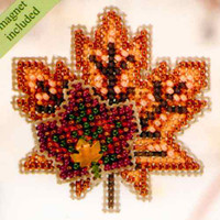Maple Leaves Beaded Cross Stitch Kit Mill Hill 2010 Autumn Harvest
