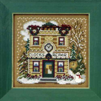 Clock Shoppe Cross Stitch Kit Mill Hill 2010 Buttons & Beads Winter
