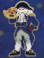 Captain Santa Beaded Ornament Kit Mill Hill 2010 Seafaring Santas