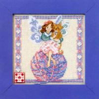 Yarn Fairy Beaded Cross Stitch Kit Mill Hill 2011 Jim Shore Fairies