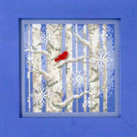 Winter Woods Beaded Cross Stitch Kit 2011 Mill Hill Buttons & Beads