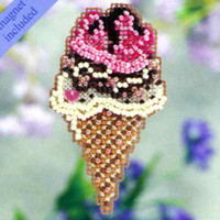 Triple Scoop Bead Ornament Kit Mill Hill 2011 Spring Bouquet