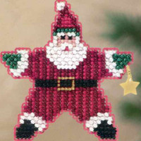 Star Santa 2011 Beaded Ornament Kit Mill Hill 2011 Winter Holiday