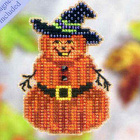 Pumpkin Man Halloween Bead Ornament Kit Mill Hill 2011 Autumn Harvest