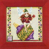 Ornament Fairy Bead Cross Stitch Kit Mill Hill 2011 Jim Shore Fairies