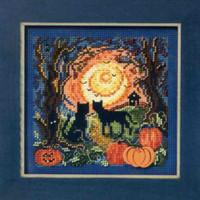 Moonlit Kitties Cross Stitch Kit Mill Hill 2011 Buttons & Beads Autumn