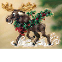 Merry Moose Bead Christmas Ornament Kit Mill Hill 2011 Winter Holiday