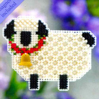 Little Lamb Beaded Cross Stitch Kit Mill Hill 2011 Spring Bouquet