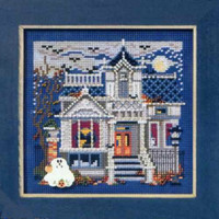 Haunted Mansion Cross Stitch Kit Mill Hill 2011 Buttons & Beads Autumn