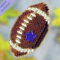 Football Bead Cross Stitch Kit Mill Hill 2011 Autumn Harvest