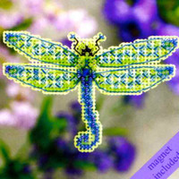 Dragonfly Beaded Cross Stitch Kit Mill Hill 2011 Spring Bouquet