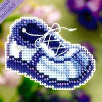 Blue Sneaker Beaded Ornament Kit Mill Hill 2011 Spring Bouquet
