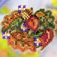 Autumn Circle Beaded Cross Stitch Kit Mill Hill 2011 Autumn Harvest