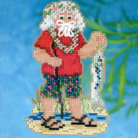 Tahiti Santa Beaded Ornament Kit Mill Hill 2012 Tropical Santas