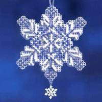 Sapphire Crystal Charmed Ornament Kit Mill Hill 2012 Snow Crystals