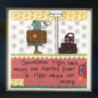 Right Back Beaded Counted Cross Stitch Kit Mill Hill Curly Girl 2012