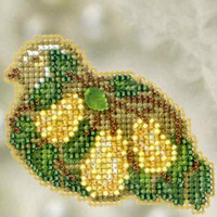 Pear Tree Partridge Beaded Ornament Kit Mill Hill 2012 Winter Holiday