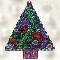 Paisley Tree Beaded Cross Stitch Kit Mill Hill 2012 Winter Holiday