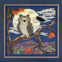 Night Owl Cross Stitch Kit Mill Hill 2012 Buttons & Beads Autumn