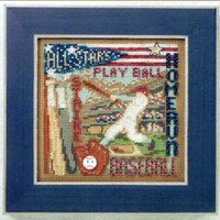 Home Run Cross Stitch Kit Mill Hill 2012 Buttons & Beads Spring