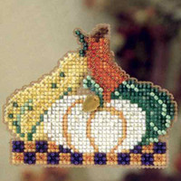 Gourds Beaded Cross Stitch Kit Mill Hill 2012 Autumn Harvest