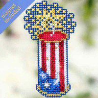 Firecracker Bead Cross Stitch Kit Mill Hill 2012 Spring Bouquet