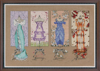 Dressmakers Daughter Kit Cross Stitch Chart Fabric Beads Braid Silk Floss Mirabilia MD121