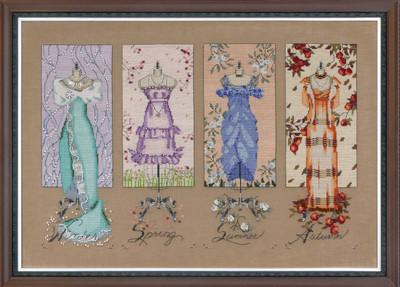 Dressmakers Daughter Kit Cross Stitch Chart Fabric Beads Braid Silk Floss Mirabilia MD121