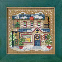 Barber Shoppe Beaded Kit Mill Hill 2012 Buttons & Beads Winter