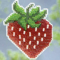 Strawberry Beaded Cross Stitch Kit Mill Hill 2013 Spring Bouquet
