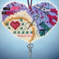 Love Stitching Beaded Charmed Ornaments Kit Mill Hill 2013 I Love