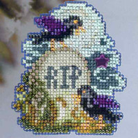 Tombstone Beaded Cross Stitch Kit Mill Hill 2013 Autumn Harvest