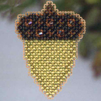 Acorn Beaded Cross Stitch Ornament Kit Mill Hill 2013 Autumn Harvest