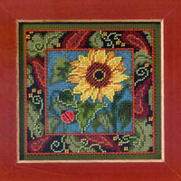 Sunflower Cross Stitch Kit Mill Hill 2013 Buttons & Beads Autumn