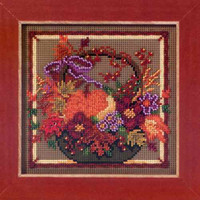Autumn Basket Cross Stitch Kit Mill Hill 2013 Buttons & Beads Autumn