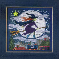 Witch Way Cross Stitch Kit Mill Hill 2013 Buttons & Beads Autumn