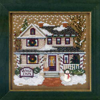 Village Inn Cross Stitch Kit Mill Hill 2013 Buttons & Beads Winter