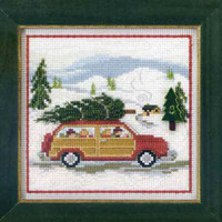 Family Tree Cross Stitch Kit Mill Hill 2013 Buttons & Beads Winter