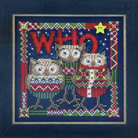 Who Trio Cross Stitch Kit Mill Hill 2013 Buttons & Beads Winter