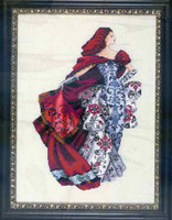 Red Kit Cross Stitch Chart Fabric Beads Silk Floss Nora Corbett Mirabilia Designs MD128