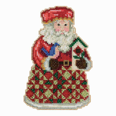 Cozy Christmas Santa Cross Stitch Kit Mill Hill 2013 Jim Shore Santas