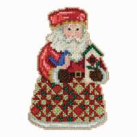 Cozy Christmas Santa Cross Stitch Kit Mill Hill 2013 Jim Shore Santas