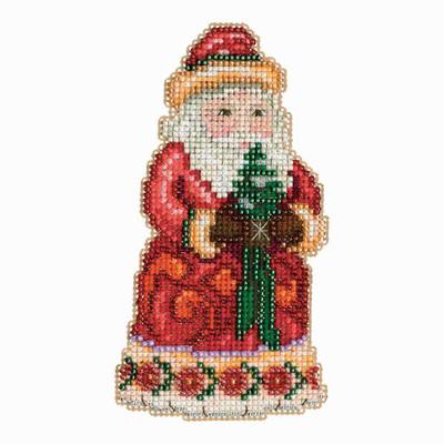 Christmas Cheer Santa Cross Stitch Kit Mill Hill 2013 Jim Shore Santas