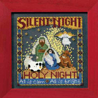 Silent Night Cross Stitch Kit Mill Hill 2008 Buttons & Beads Winter