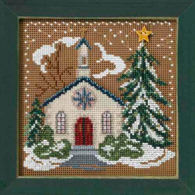 Country Church Cross Stitch Kit Mill Hill 2006 Buttons Beads Winter